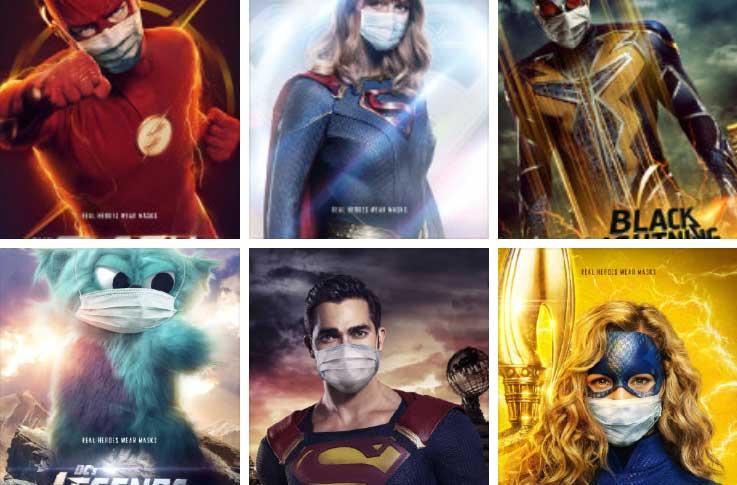 CW放出自家台的6部DC超级英雄剧回归海报,角色都戴上了口罩!-美剧品鉴社